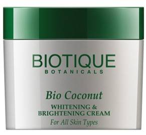 Biotique Bio Coconut Whitening Brightening Cream For All Skin Types 50gm
