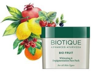 Biotique Bio Fruit Whitening And Depigmentation Face Pack For All Skin Types 75g