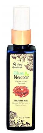 Blue Nectar Ayurvedic Body Massage Bio Oil For Stretch Marks Scars Aging Wrinkled Skin 100ml