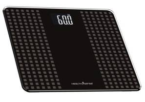 Health Sense PS 117 Glass Top Digital Personal Body Weighing Scale Black Gray