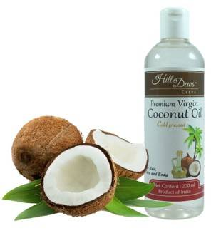 HillDews Virgin Coconut Oil 200ml Cold Pressed For Skin Hair