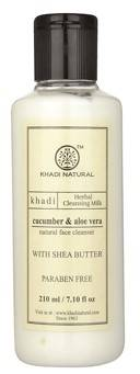 Khadi Cucumber And Aloevera Cleansing Milk Cream With Sheabutter 210ml
