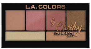 L A Colors So Cheeky Blush And Highlight Palette Peaches And Cream 22g