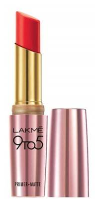 Lakme 9 To 5 Matte Lip Color Red Coat R1 3 6g