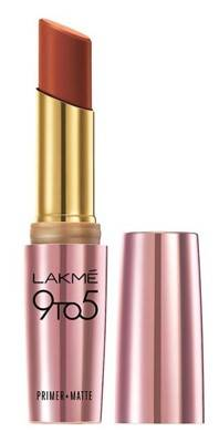Lakme 9 To 5 Primer And Matte Lip Color Red Rust 3 6g