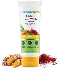 Mamaearth Ubtan Natural Face Wash For Dry Skin With Turmeric Saffron