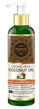 Morpheme Remedies Pure ColdPressed Organic Virgin Coconut Oil For Hair Skin 120ml
