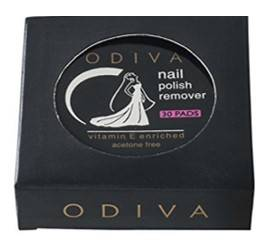 Odiva Nail Polish Remover Wipes Round 5 Packs Of 30 Pads Each