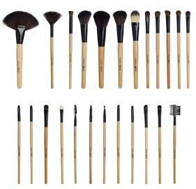Puna Store Makeup Brush Set 24 Pieces With Black PU Leather Case