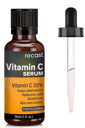 Recast Vitamin C Serum With Hyaluronic Acid And Glutathione For Face 30ml