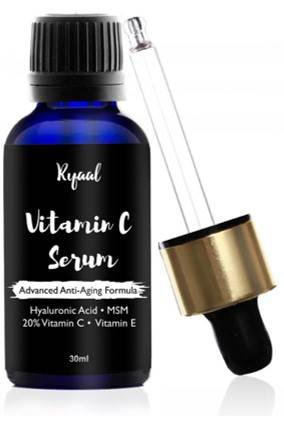 Ryaal Anti Aging Vitamin C 20 Serum 30ml With Hyaluronic Acid And Vit E Wrinkle Repairs Dark Circles Fades Age Spots And Sun Damage
