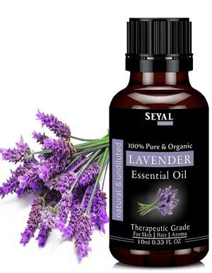 Seyal Lavender Essential Oil Pure Organic Therapeutic Grade Undiluted For Skin Hair Aroma 10ml