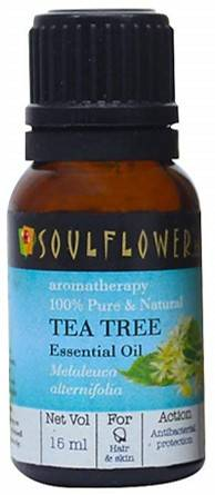 Soulflower Essential Oil Tea Tree Nett Vol 15ml