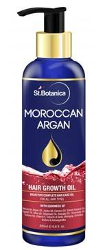 StBotanica Moroccan Argan Hair Growth Oil With Pure Argan Jojoba Almond Castor Olive Avocado Rosemary Oils 200ml