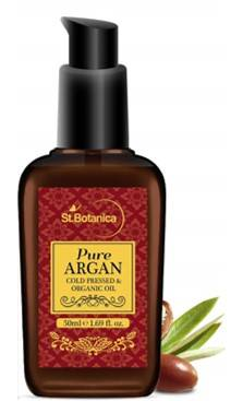 StBotanica Organic Pure Argan Oil 50ml For Hair Skin USDA Certified Ingredient Imported From Morocco