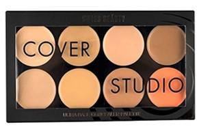 Swiss Beauty Oil And Wax Free Cover Studio Ultra Base Concealer Palette 16g Set Of 8 Colours