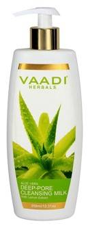 Vaadi Herbals Aloevera Deep Pore Cleansing Milk With Lemon Extract 350gm