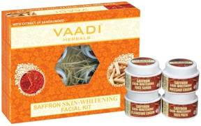 Vaadi Herbals Saffron Skin Whitening Facial Kit With Sandalwood Extract 70gm