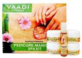 Vaadi Herbals Soothing And Refreshing Pedicure Manicure Spa Kit 135gm