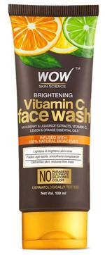 WOW Skin Science Brightening Vitamin C Face Wash No Parabens Sulphate Silicones Color