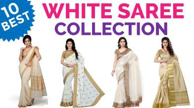 10 Best & Beautiful White Saree Collection on Amazon with Price